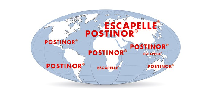 ESCAPELLE and POSTINOR worldwide